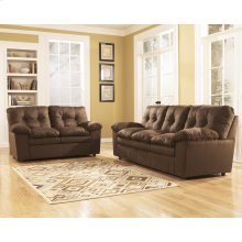 Signature Design by Ashley Mercer Living Room Set in Cafe Fabric