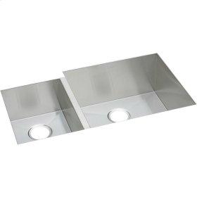 "Elkay Crosstown 16 Gauge Stainless Steel, 35-1/4"" x 20-1/2"" x 10"" Offset 40/60 Double Bowl Undermount Sink"