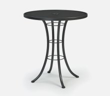 """36"""" Round Bar Table (with Hole) Ht: 40"""" Classic Steel Base (Model # Includes Both Top & Base)"""