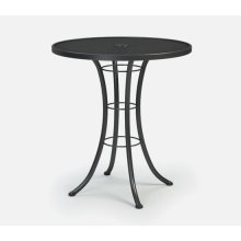 "36"" Round Bar Table (with Hole) Ht: 40"" Classic Steel Base (Model # Includes Both Top & Base)"