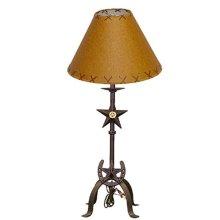 "21"" Lamp W/Stars & Horseshoe With Shade"