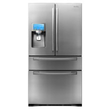"""28 cu. ft. 4-Door Refrigerator and 8"""" LCD Digital Display with Apps"""