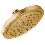 "MoenMoen brushed gold one-function 7"" diameter spray head rainshower"