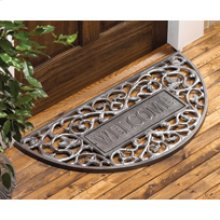 Welcome Filigree Arch Mat French Bronze