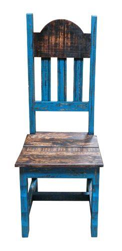 Turq Scraped Wood Plain Chair