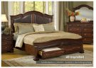 Legends' Franklin Collection bed with storage footboard and rails. Product Image
