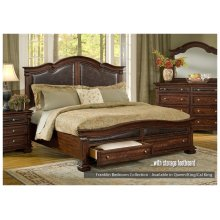 Legends' Franklin Collection bed with storage footboard and rails.
