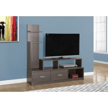 "TV STAND - 60""L / GREY WITH A DISPLAY TOWER"