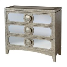 Carlton 3-drawer Chest With Mirrored Drawer Fronts