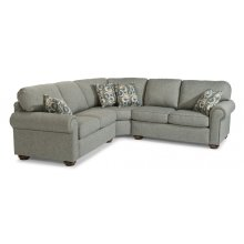 Preston Fabric Sectional with Nailhead Trim