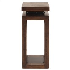 Rustic Wood Pedestal with Iron Accents, Small Product Image