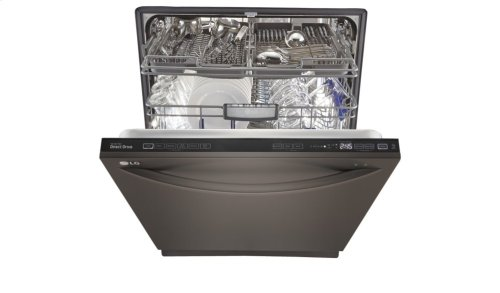 LG Black Stainless Steel Series Top Control Dishwasher with EasyRack Plus