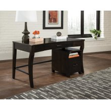 Transitional Smokey Black File Cabinet