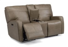 Talbert Power Reclining Loveseat with Console and Power Headrests