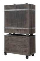 Emerald Home Dakota Bar Cart and Cabinet Reclaimed Pine D570-50 Product Image