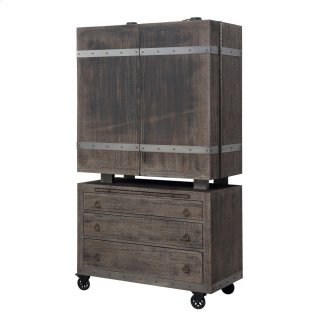 Dakota Bar Cart and Cabinet