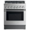"Fisher & Paykel Gas Range, 30"", 5 Burners"