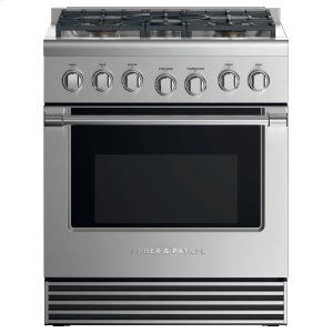 "Fisher & PaykelDual Fuel Range, 30"", 5 Burners, LPG"