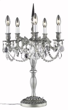 9205 Rosalia Collection Table Lamp Pewter Finish