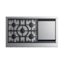 "Gas Rangetop 48"", 5 burners with griddle"