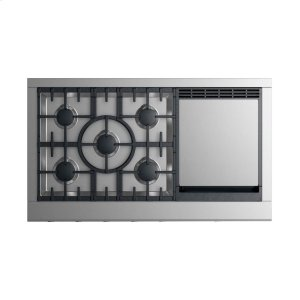 """Gas Rangetop 48"""", 5 burners with griddle Product Image"""