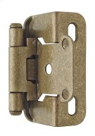 Self-closing, Partial Wrap 1/2in(13mm) Overlay Hinge Product Image