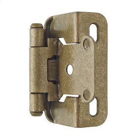 Self-closing, Partial Wrap 1/2 In (13 Mm) Overlay Hinge
