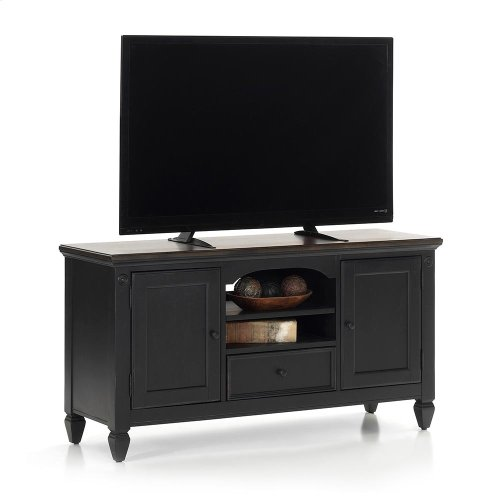 "Living Room - Glennwood 54"" TV Console  Black & Charcoal"