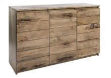 "Buffet In Rustic Birch / Top and Front In Solid Wood / 2 Doors With Wood Division and 2 Adjustables Wood Shelves On Each Side / 3 Drawers ""quadro"" Slides."