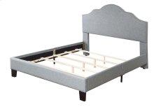 Upholstered 6/0 Cal King Headboard-footboard & Rails-lt Gray#jsy2611-7