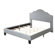 Upholstered 6/6 King Headboard-footboard & Rails-lt Gray#jsy2611-7