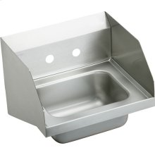 "Elkay Stainless Steel 16-3/4"" x 15-1/2"" x 13"", Single Bowl Wall Hung Handwash Sink"