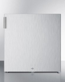 Compact All-freezer for General Purpose Use, Manual Defrost With Lock and Stainless Steel Exterior