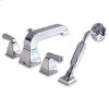 Polished Chrome Town Square Deck Mount Tub Filler W/ Personal Shower