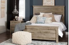 Complete Bed with Rustic Headboard - 60''