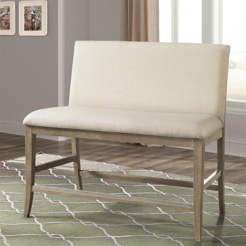 Sophie - Upholstered Counter Stool Bench - Natural Finish