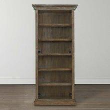 Emporium Smoked Oak Compass Tall Single Open Bookcase
