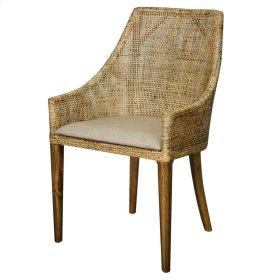 Orlanda Rattan Side Chair Harvest Brown Legs, Black Shadow