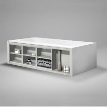 "amanpuri1 shelving unit White gloss 16 3/4""X16 1/4""X5 1/2"""