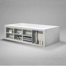 "amanpuri1 blustone bathtub for one-sided shelving, White matte, 71 3/4""x37 3/4""x21 3/4"""