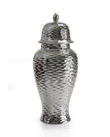 Dana Silver Ceramic Vase 18H 4-pack