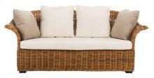 Oahu Wicker 2-seater Sofa - Natural / Cream / Beige