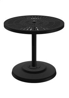 """La'Stratta 30"""" Round KD Pedestal Dining Umbrella Table"""
