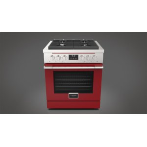 "Fulgor Milano30"" All Gas Range - Glossy Red"