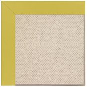 Creative Concepts-White Wicker Canvas Lemon Grass Machine Tufted Rugs