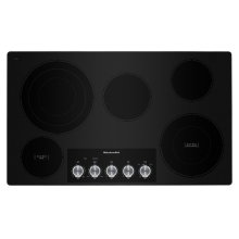 "36"" Electric Cooktop with 5 Elements and Knob Controls - Stainless Steel"