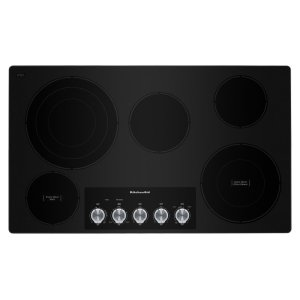 "KITCHENAID36"" Electric Cooktop with 5 Elements and Knob Controls - Stainless Steel"