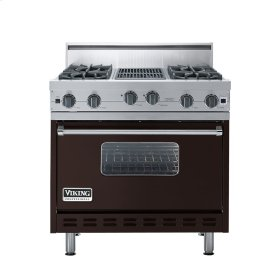 "Chocolate 36"" Open Burner Range - VGIC (36"" wide, four burners 12"" wide char-grill)"