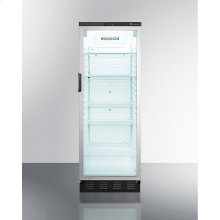 Commercial Full-sized Beverage Merchandiser With Automatic Defrost In Slim Width and Stainless Steel Cabinet