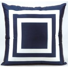"Outdoor Pillow As551 Navy 20"" X 20"" Throw Pillow"